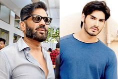 Sunil Shetty Gives A Million Dollar Advice To Son Ahan Shetty For His Career Good Good Father, Father And Son, Sons, Bollywood, Career, Mens Sunglasses, Actors, People, Movies