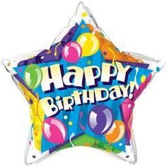 20'' Birthday Sparkling Balloons-Pkg foil balloon