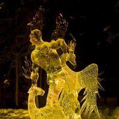 ice carving secrets: 2009 World Ice Art Championships (single block) in Fairbanks, Alaska