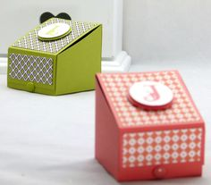 stampin up boys gift treat box  with measurements