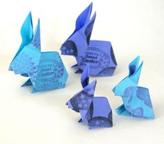 origami bunnies with link to video tutorial