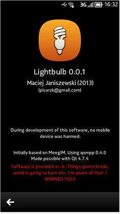 UNIVERSO NOKIA: Aggiornamento per Lightbulb IM | Il client XMPP pe...