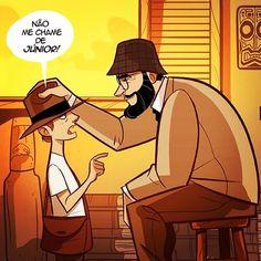 Feliz dia dos pais!  #fathersday #indianajones