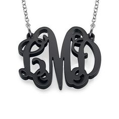 Classic Pop Monogram Necklace