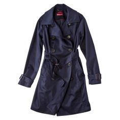 Merona Water Repellent Long Trench Coat $49.99  I originally ordered this in khaki, size L.  It is too big and I'm also really loving this navy color so I might try a size M in the navy instead.  Very nice trench coat at a great price.