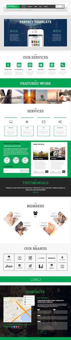 Yopta WordPress #Business #Portfolio Theme - www.wpchats.com