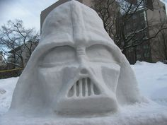 Instead of making a snowman, how about make a Star Wars snow sculpture instead? Enjoy this geeky collection of Star Wars favorites created in the snow. Winter Wonder, Winter Fun, Snow Crafts, Snow Sculptures, Sculpture Ideas, Ice Art, I Love Snow, Snow Art, Snow And Ice