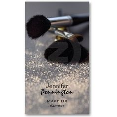 Customizable stylish make up artist business card