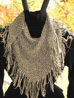 Triangle loom Handwoven  Accessory Women by ClarksvilleWeaver, $55.00