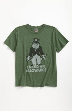 Junk Food 'I Need an Allowance' T-Shirt (Little Boys & Big Boys) available at #Nordstrom