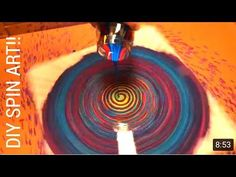 Fluid Painting Tutorial for Beginners!! How to Make a Fluid Spin Painting! Acrylic Pouring MUST SEE! - YouTube