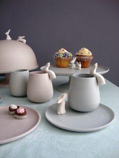 Follow the White Rabbit High Tea Set by Dutch designer Katinka Versendaal.