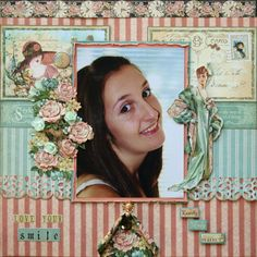Layout: Love your smile by Michellevo1809 from scrapbook.com #graphic45 #layouts