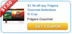 $1.50 off any Folgers Gourmet Selections K-Cup  New coupons and deals for active seniors daily at www.SeniorSpotChicago.com