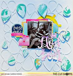 """The Cut Shoppe: Layout by Guest Designer Sarah King uses """"Geo to Go"""" and """"Nautical Notions"""" cut files."""
