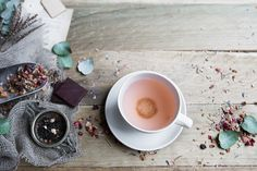 cup and saucer from MUD Australia | rose tea from T2