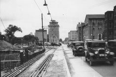 Kingshighway looking N from US 40 construction 1935