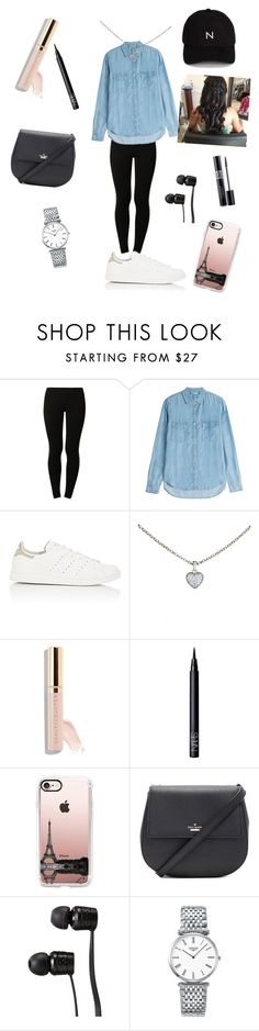 """""""Denim cutie :)"""" by swaggerselfie123 ❤ liked on Polyvore featuring Anna Field, 7 For All Mankind, adidas, Cartier, Beautycounter, NARS Cosmetics, Casetify, Kate Spade, Vans and Longines"""
