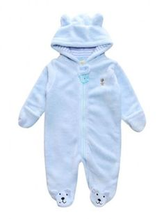 98314d9bd10f Cute Bear Fleece Overall Romper Item Type  Rompers Sleeve Length(cm)  Full  Gender  Unisex Fit  Fits true to size Collar  Hooded Material Composition   Cotton ...