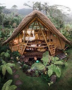 Medan, Surabaya, Bali Tour, Hotel Bali, Forest Resort, Bungalow, Bamboo House Design, Hut House, Bamboo Structure