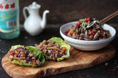 Minced Chinese chicken in lettuce cups — The Kitchen Alchemist