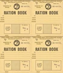 1940s themed party - ration books
