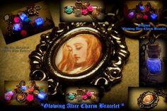 Alice In Wonderland  Key KeeperCharm Bracelet  by FairyGlowLantern, $45.00
