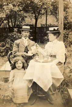 "Vintage photo of ""tea for two"""