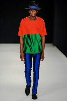 Is this amazing for the guys with guts or WHATTTTTT   ????       e. tautz - spring 2014 menswear - london