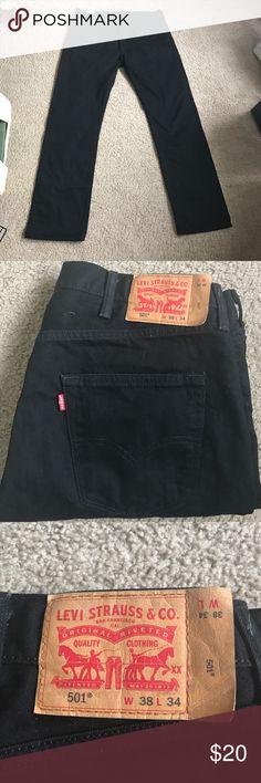 Men's Levi Strauss Jeans Black Denim Jeans Waist 38 Length 34 in great condition Levi's Jeans Bootcut