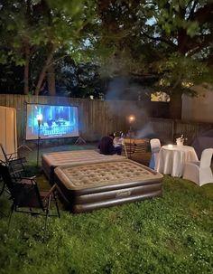 Rustic Backyard, Big Backyard, Backyard Ideas, New Kitchen Doors, Entertaining Movies, Diy Deck, Exposed Wood, Outdoor Furniture Sets, Outdoor Decor