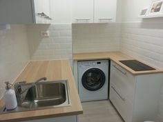 small kitchen, white kitchen, subway tile, ikea kitchen, ikea veddinge , ikea ekbacken