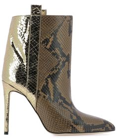 Paris Texas Contrasting Panelled Ankle Boots In Multi Shoe Boots, Ankle Boots, Shoes, Paris Texas, Leather Booties, Snake Print, World Of Fashion, Luxury Branding, Cowboy Boots
