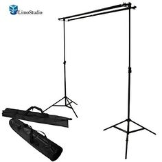 linco 10ft triple crossbar background support stand kit photo studio 2 piece 9 feet backdrop stands