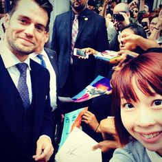 Too #happy #icandiehappy #henrycavill #themanfromuncle #6ix #toronto #selfie #asian #fangirl