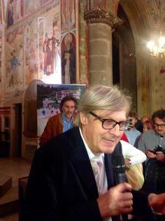 Vittorio Sgarbi in Collegiata! #panoramaditalia
