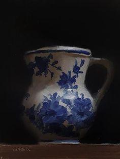 Neil Carroll Original Oil Painting Realism Impressionism Still Life Jug Vintage Thanksgiving, Still Life Oil Painting, Delft, Fine Art Gallery, Art World, Impressionism, Art For Sale, Vase, Sculpture