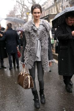 The vest!!!! Milan Fashion Week Fall 2013 Street Style / Photo by Anthea Simms