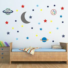 Stars and Planets In Space Wall Stickers Star Wall by Mirrorin