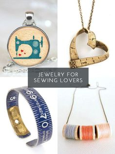 What seamstress wouldn't love these #sewing inspired jewellery pieces? #stitching