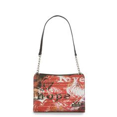The Hope (red) Slip-On Shell for Petite Bags has an edgy vibe while delivering an undeniable message of determination in the face of adversity. Faith, hope and love are beautifully defined in black and white on a smooth, red faux leather background. It's not just a Shell—it's a work of art. Catch the Spirit of Hope—a portion of every purchase of a Hope Shell goes directly to cancer research. $41