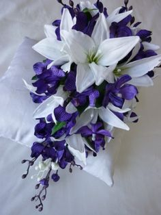 Pix For > Purple Tiger Lilies Bouquet