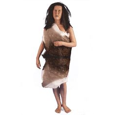 Prehistoric woman made of silicone