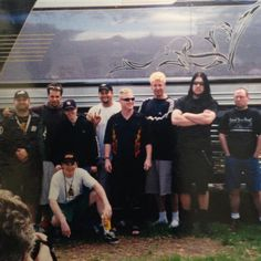 """slipknot-corps: """"Good Ol' Days. """" 1999, their first few live shows when Jim rocked the bleached hair."""