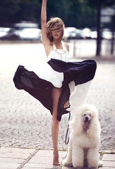 Chloé dress // photo by David Bellemere for VOGUE Paris