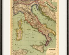 Popular items for italy map on Etsy