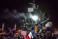 """March Against Terrorism in Paris"", 2.º Prémio na Categoria de Notícias de Última Hora (Fotografia única) CORENTIN FOHLEN"