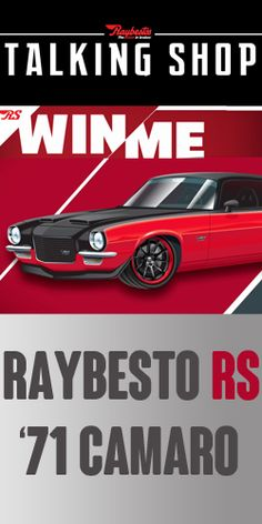 Enter To Win A Raybestos RS 1971 Camaro! TERRIFIC GIVEAWAY!!!! Enter here http://womanfreebies.com/sweepstakes/win-a-1971-camaro for your chance!  You Know I sure Entered!! I LOVE THIS CAR AND I WANT THIS CAR SO BAD!!!!!  Thanks, Michele :)