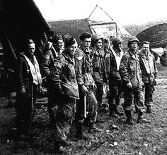 Paratroopers of the 82nd Airborne Division during Operation Market Garden, the Netherlands, 1944.