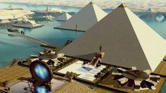 Mainstream historians will tell you that the Great Pyramid of Giza was a glorified tomb for the Egyptian pharaohs. The only original monument left of the original Seven Wonders of the World, this structure was Ancient Aliens, Ancient Egypt, Ancient History, Egyptian Pharaohs, Egyptian Art, Atlantis, Electric Universe, Great Pyramid Of Giza, Pyramids Of Giza